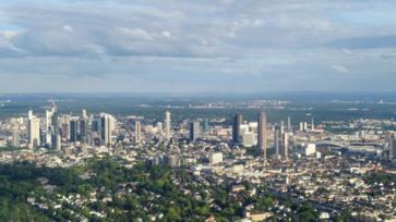 Sétarepülés Frankfurt felett