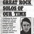 Fred Frith az NME-ben Zappa gitárjátékáról (1974)