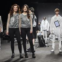 Nyomtatott ruhák a Madridi Divathéten