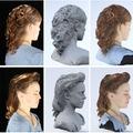 Nyomtatott figurák élethű hajjal