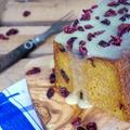 Sütőtökös süti fehér csokival leöntve, vörösáfonyával felturbózva