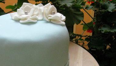Születésnapi virágos mini torta