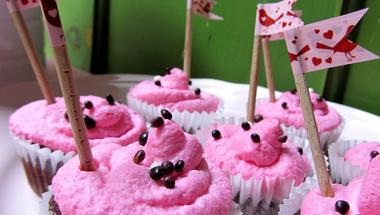Csajos csokis cupcake