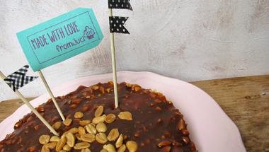 Túrós karamellás mogyorós torta (Guru torta kicsit másképp)