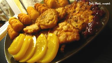 Fűszeres csirkemell almabundában