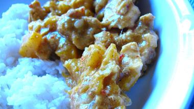 Barackos - currys csirkemell