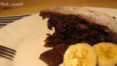 Csokis-banános torta