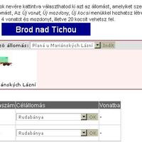 Online vonatirányítás