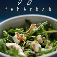 Fehérbab saláta