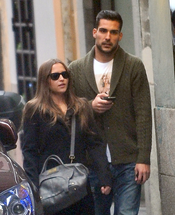 Miguel Ángel Moyà with beautiful, cute, sweet, Girlfriend Ana Fernandez