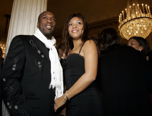 Clarence Seedorf with gracious, Wife Luviana Seedorf