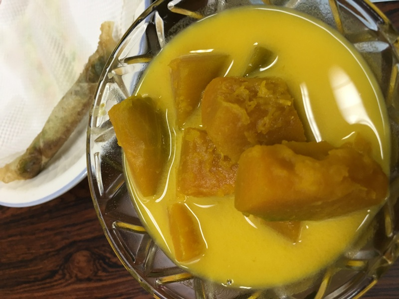 Thai coconut milk pumpkin<br />Thaiföldi kókusztejben főtt tök