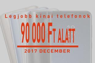 A legjobb kínai csúcstelefonok decemberben