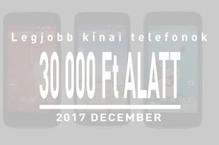 Legjobb kínai telefonok 30 ezer forint alatt decemberben