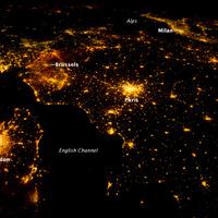 Nyugat-Európa éjjel