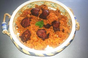 Tradicionális szaúdi csirkés rizs - Al kabsa