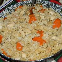 Zelleres rizses egytálétel