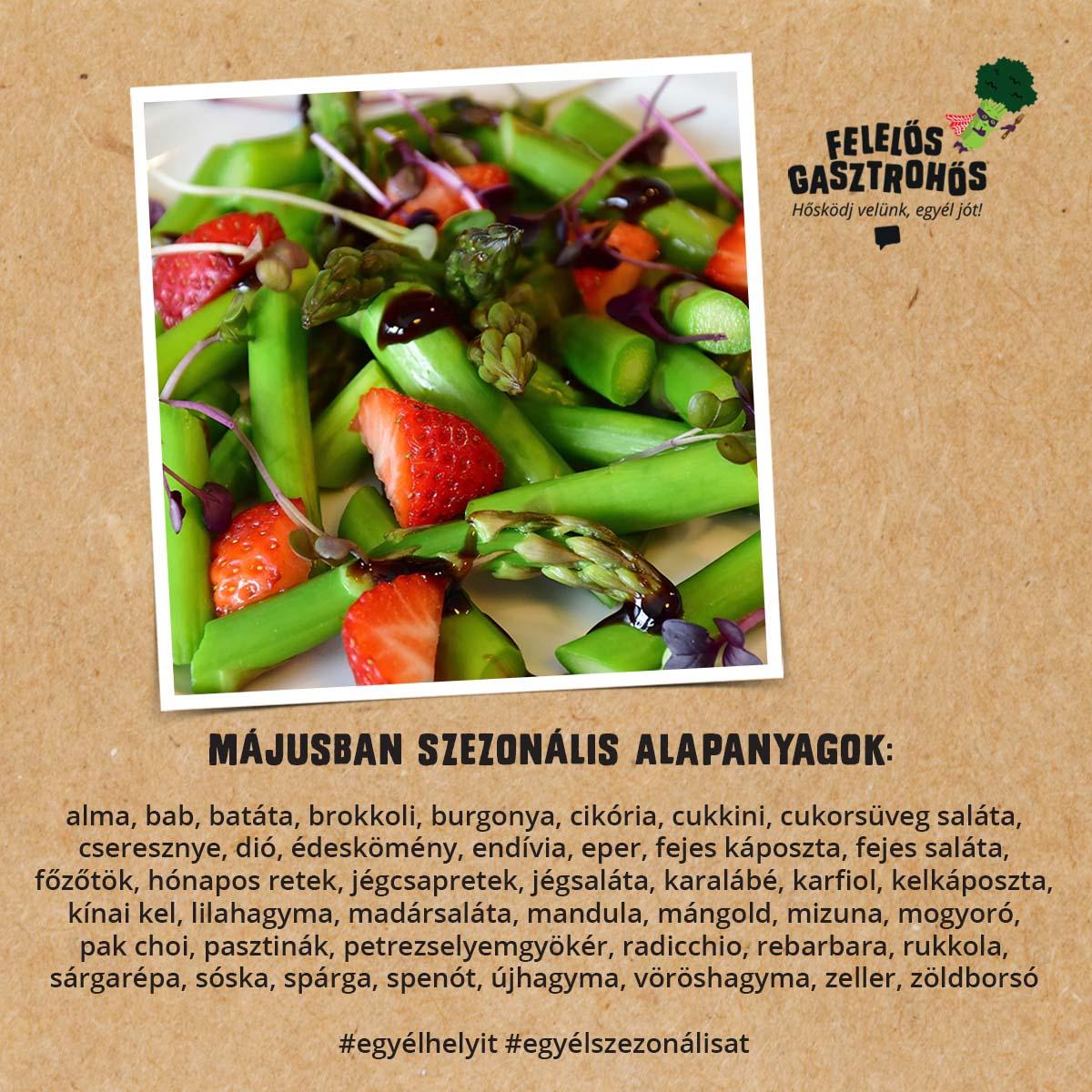 Májusi spárgás és epres receptek
