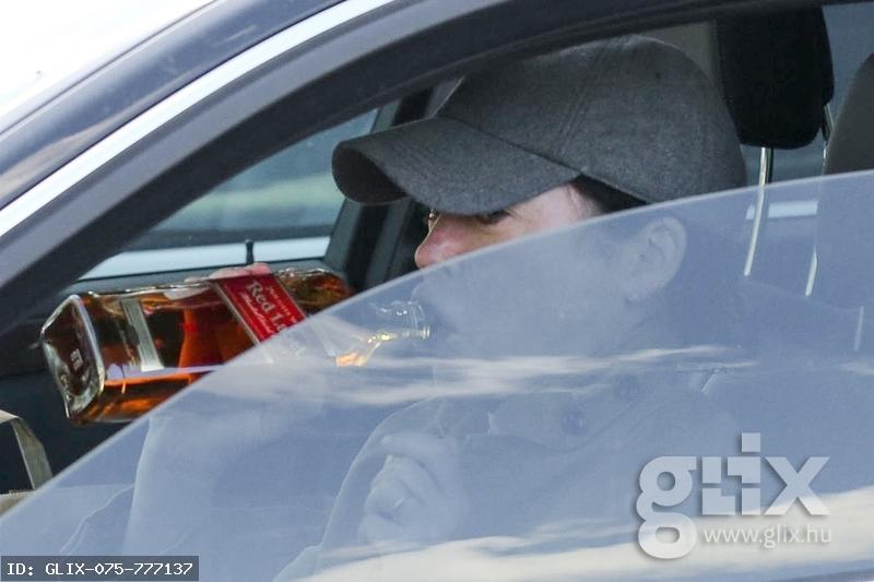 Lara Flynn Boyle a volán mögött Johnnie Walkert vedel