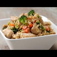 Zöldséges rizses csirke