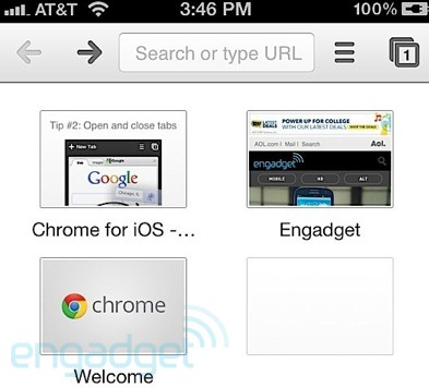 ios chrome google