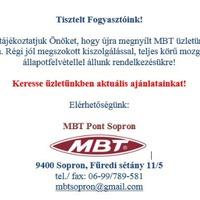 Boltot nyitott az MBT Sopronban