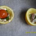 Mozzarella citromban sütve