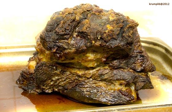 A hús, ahogyan kijött a sütőből - kép: Krumpli Béla