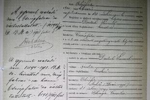 Cserépfalvi Imre születési bejegyzése a cserépi anyakönyvben