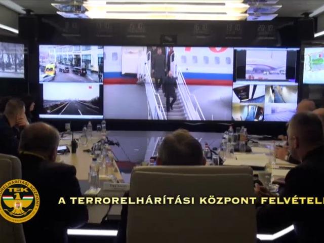 A TEK belső felvételeket tett közzé Putyin a védelmét is ellátó Művelet-irányítási Központból
