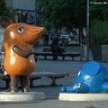 Nyugatnémet TV-egér kelet-német belvárosban