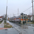 Vonat az utca közepén