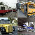 Régi villamosok és buszok forgatagában