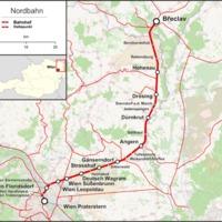 Břeclav felé félúton