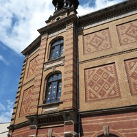 Mainz téglaborítású házai