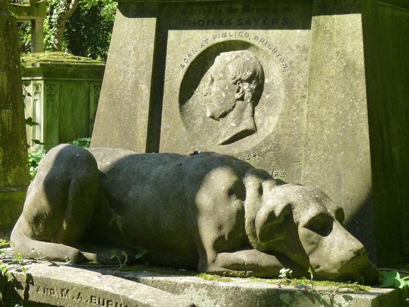 Lion, Thomas Sayers bokszbajnok kutyája