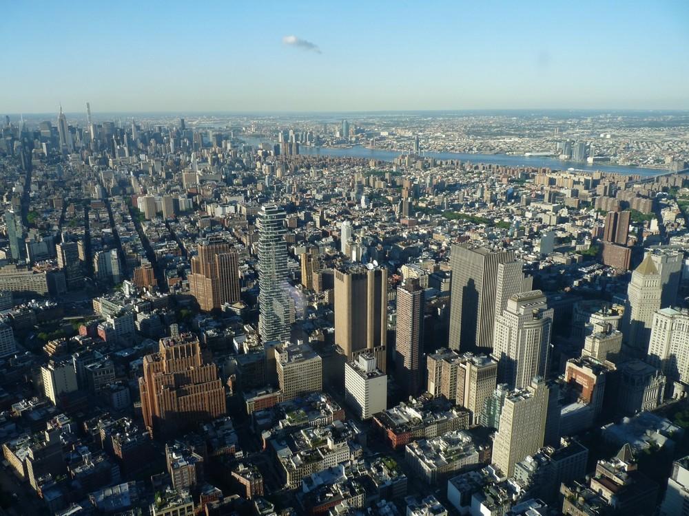 Kilátás a Freedom Tower kilátójából