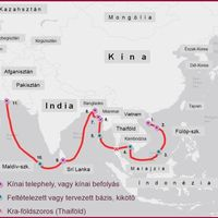 Kínai nyaklánc Ázsia hasán