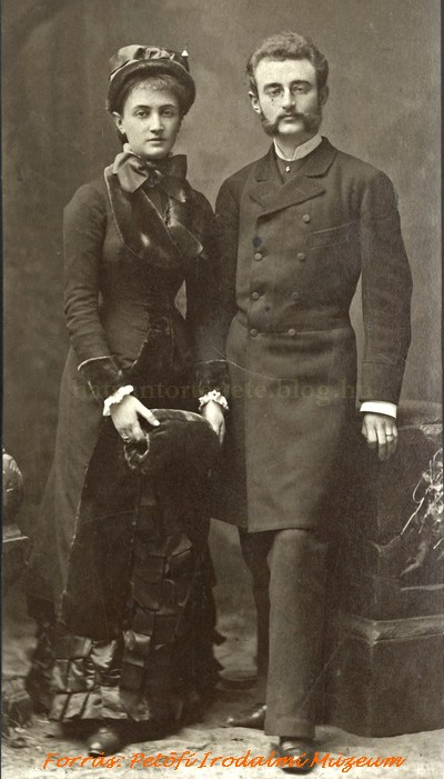 Sándor és felesége/unokatestvére, az 1901-ben elhunyt Emma (1880-as évek eleje)
