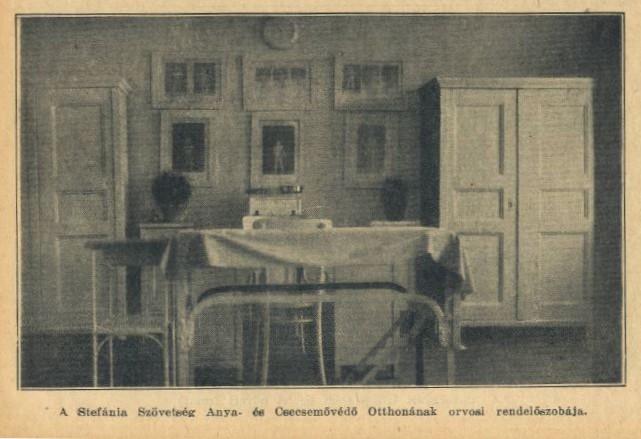 A Stefánia Szövetség belső orvosi rendelőszobája.