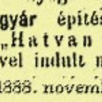 Az első hatvani újság (1888)