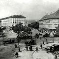 Bódék, rongyosok az Erzsébet téren