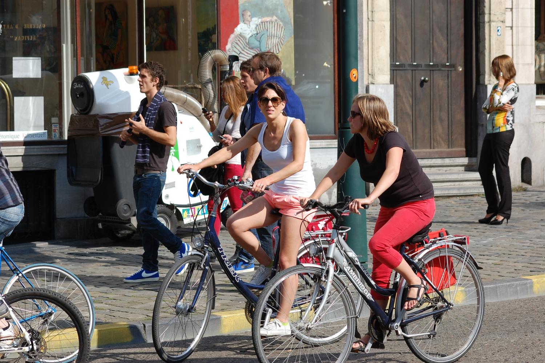 Brüsszeli nők (Fotó: Flickr/Federation European Cyclists')