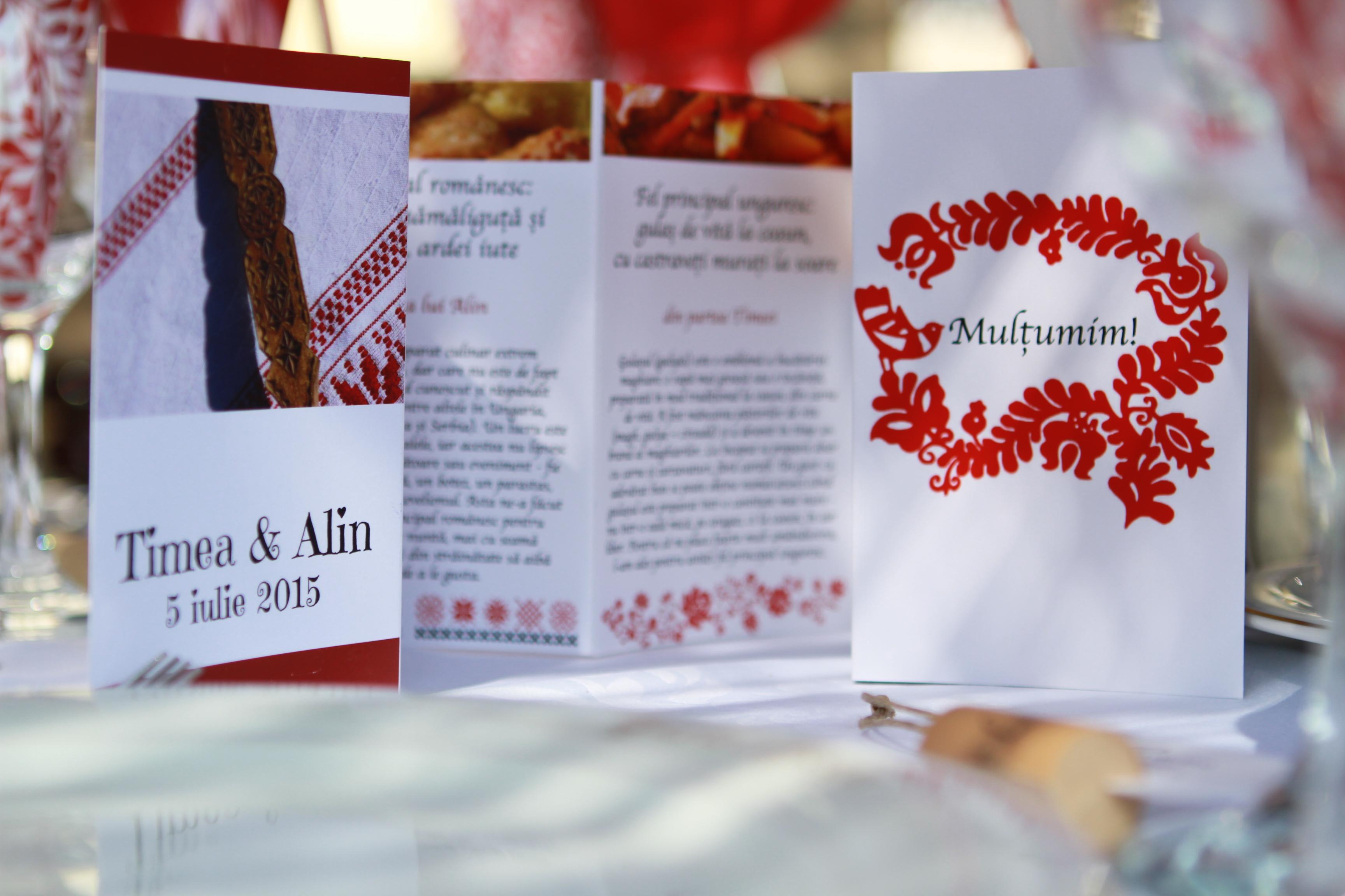 Timi és Alin esküvői menükártyája (Fotó: Tamássy Zsolt)