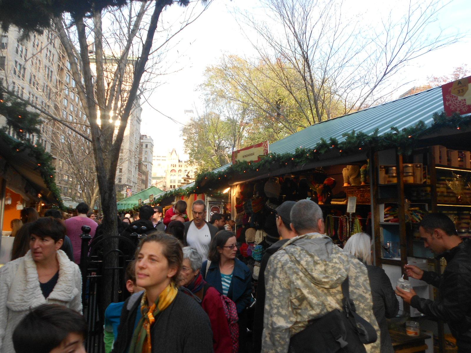 Karácsonyi vásár New Yorkban (Fotó: Gál Kati)