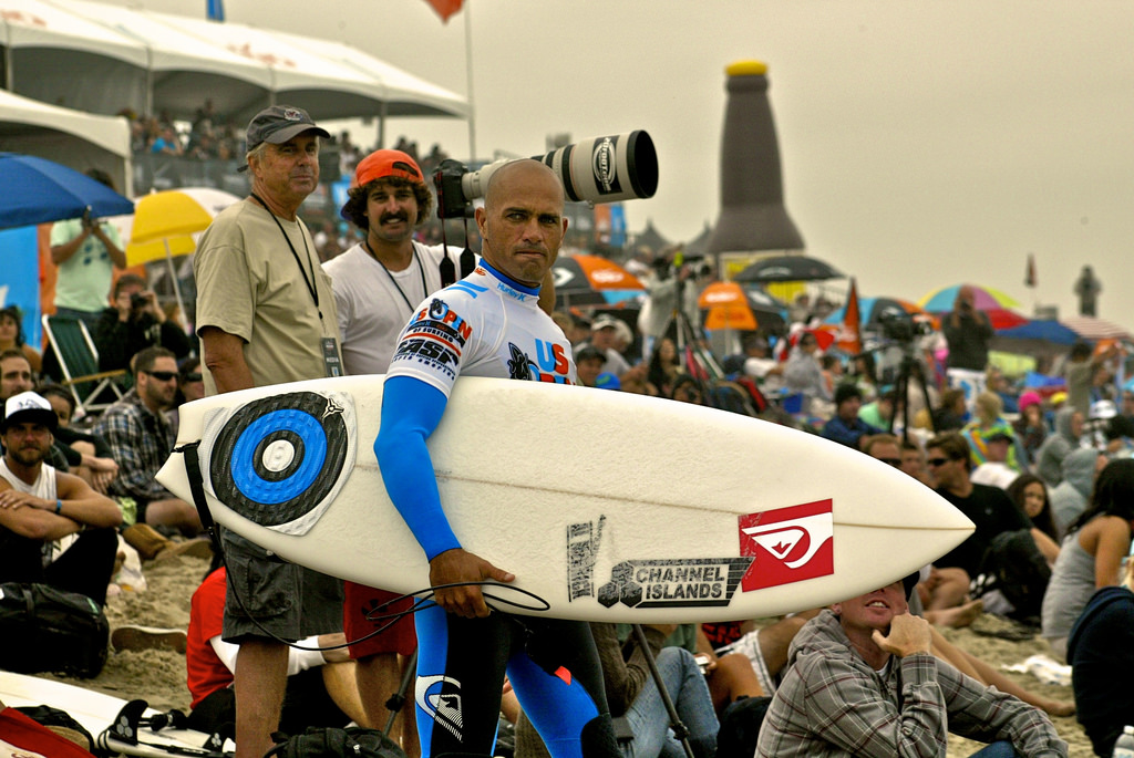 Slater vonul a 2010-es US Open of Surfing versenyen Huntington Beach-en. (Fotó: Flickr/Tati Melo)