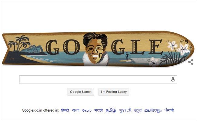 Duke születésének 125. évfordulóját a Google is megünnepelte. (Fotó: Google Doodles/Google ünnepi emblémák archívuma)