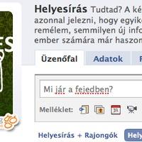 Facebook helyesírás