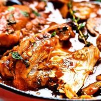 Mediterrán szaftos csirkecombok