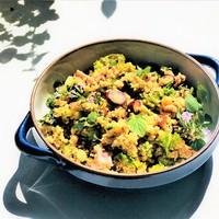 Üdítő, friss kuszkusz saláta